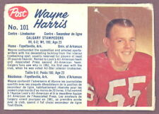 1962 POST CFL FOOTBALL #101 WAYNE HARRIS RC VG CALGARY STAMPEDERS U OF ARKANSAS