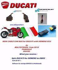 DUCATI Diagnostic tool obd2 service 4 way pin Siemens ELM WIFI CAN Mitsubishi