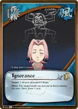 3x Ignorance - M-814 - Uncommon Foil NM Naruto Weapons of War