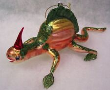 Slavic Treasures Retired Glass Ornament - Reptilian (lizard)