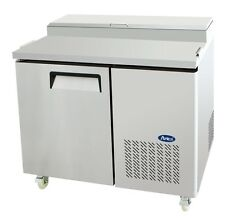 """ATOSA MPF8201 44"""" 1 DOOR PIZZA PREP TABLE REFRIGERATED w/ CASTERS & PAN INCLUDE"""