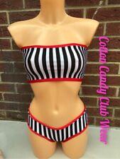 Stripy Rave Outfit Pole Dance Wear Set ⭐️ SALE LAST ONE ⭐️