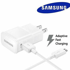 OEM Samsung Galaxy S6 S7 Edge Note 4 5 Adaptive Fast Rapid Wall Charger+4ft cord