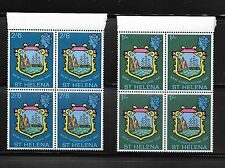 1967 ST HELENA STAMPS NEW CONSITITUTION BLOCKS OF 4 MNH