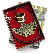 New Legend of Zelda Skyward Sword Bronze Cosplay Necklace + Ring Set
