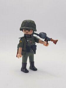 PLAYMOBIL CUSTOM WW2 Soldado CON MG42 EJERCITO ALEMAN GUERRA MUNDIAL