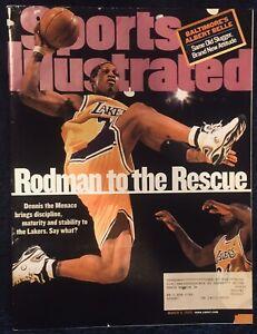3.8.1999 DENNIS RODMAN Sports Illustrated Los Angeles Lakers