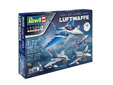 Revell Modell Bausatz Kit Flugzeug Maßstab 1:72 Geschenkset 60 Jahre Luftwaffe