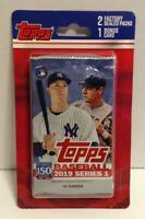 2019 Topps Baseball Series 1 (2) Factory Sealed Packs & 1 Bonus Card MLB