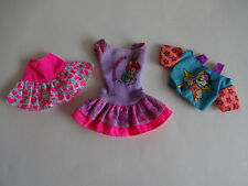 3 Piece Lot Mattel Barbie Doll Flintstones Dress Top Skirt Fred Pebbles 1993