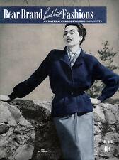 Bear Brand #343 c.1951 - Fifties Era Patterns Hand Knit Fashions for Women