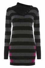 Polo Neck Long Striped Jumpers & Cardigans for Women