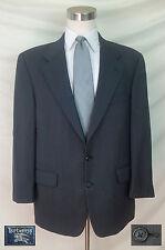(44R) BURBERRYS' 100% Wool Black & White Subtle Geometric Pattern Sport Coat