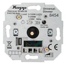 Drehdimmer MIT RAHMEN UNTERPUTZ STUFENLOSG lühlampen+HV-Halogen 50-300 Watt