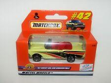 Matchbox Superfast No 42 Chevy Bel Air Convertible Yellow MIB Orange Box