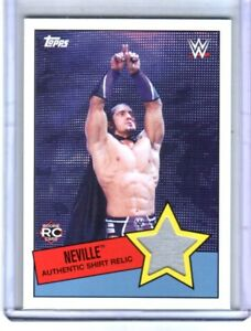 WWE Neville 2015 Topps Heritage Event Used Shirt Relic Card