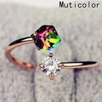 Damen Mode Zirkonia Ring Verstellbar Öffnung Ring Schmuck 1stk. Geschenk  A
