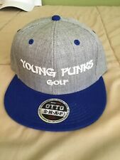 Golf Snapback Hat Cap Lid Young Punks ! Heather Grey Royal Blue 1 Size Flat Brim