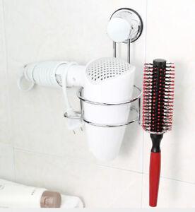 Föhnhalter Haartrockenhalter SAUGKNOPF Föhnablage Fönhalter Halter Bürste Fön