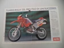 advertising Pubblicità 1990 MOTO APRILIA TUAREG RALLY 125