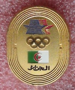 Pin NOC Algeria, Olympic games 1984, Los Angeles, a rarity