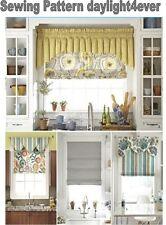 "Window Treatment Roman Shade Valances Sewing Pattern 1684 New 35-40"" #u"