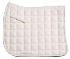 Zilco Diamante Trim Dressage Saddle Cloth - White Postage