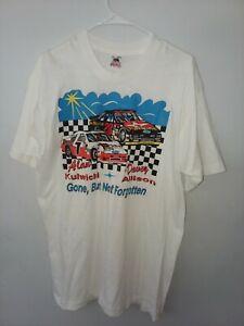 "1993 DAVEY ALLISON & ALAN KULWICKI "" GONE BUT NOT FORGOTTEN "" NASCAR TSHIRT sz L"