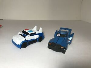 2 Transformers Hasbro RID Robots  One-Step Changers Figure Strongarm + Steeljaw