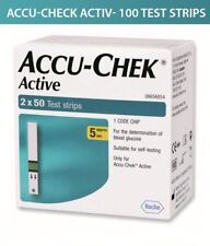 ACCU CHEK Active Test Strips Blood Medical 100Sheets Diabetic Check Expire04/20