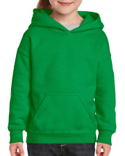 Gildan Youth Kids L Large pullover hooded Sweatshirt Green ***LAST ONE***