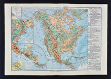 1885 Drioux Map - North America Physical - United States Canada Mexico Mountains
