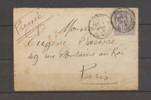 1 MAI 1878 Lettre 15c. Sage obl. Les Ternes, premier jour du tarif, SUP X4130