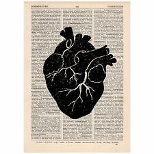 Anatomical Heart Dictionary Print Vintage,  Anatomy, Gothic, Art, Unique, Gift,