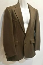 VTG RARE Big E LEVIS  WESTERN WEAR JACKET BLAZER COAT MEN 38R Gabardine Blend