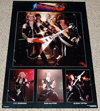 Judas Priest Screaming For Vengeance Collage Poster 1982 Funky Rob Halford