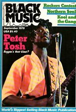 Peter Tosh on Black Music Magazine Cover September 1976 Third World Candi Staton