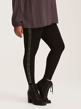 SEXY BBW FASHION new BEAUTIFUL LEGGING Studded Side Full Length Leggings