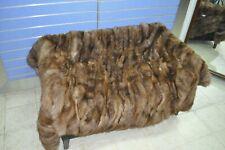 Luxury Brown / Pastel Fox Fur Throw Genuine Real Fox Fur Blanket / Bedspread