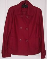Ladies DOUBLE BREASTED Winter JACKET with collar...Size: 14....NEW