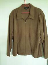 """Pretty Women's """"Brigs New York""""  brown Jacket - Size 24W"""