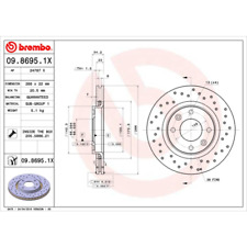 Disque de frein (2 Pièce) BREMBO Xtra Line-BREMBO 09.8695.1x