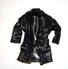 Barbie Fashion Harley Davidson Faux Black Leather Jacket For Barbie Doll hd17