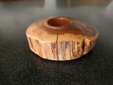 RUSTIC WALNUT WOOD VOTIVE CANDLE HOLDER HEATHER &  BRUCE MacDONALD IRELAND