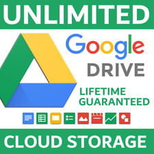 UNLIMITED LIFETIME GOOGLE DRIVE CLOUD STORAGE [x2] SHARED DRIVE TEAM DRIVE NEW!