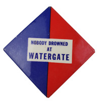 Nobody Drowned At Watergate Political Campaign Pin Button Pinback