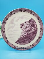 """Antique """"Old Man of the Mountains"""" Old English Staffordshire Plate Purple 7.75"""""""