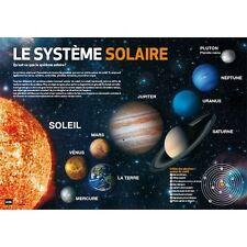 Sous main SYSTEME SOLAIRE, plastique, protège bureau, planètes, desk blotter