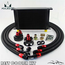 25 Row AN10 Oil Cooler +3/4*16 UNF & M20*1.5 Filter Relocation Adapter Hose Kit