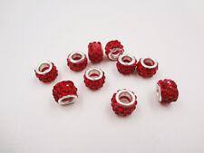 10pc Quality Crystal Rhinestone Beads Disco Ball Shamballa DIY Bracelet 10mm
